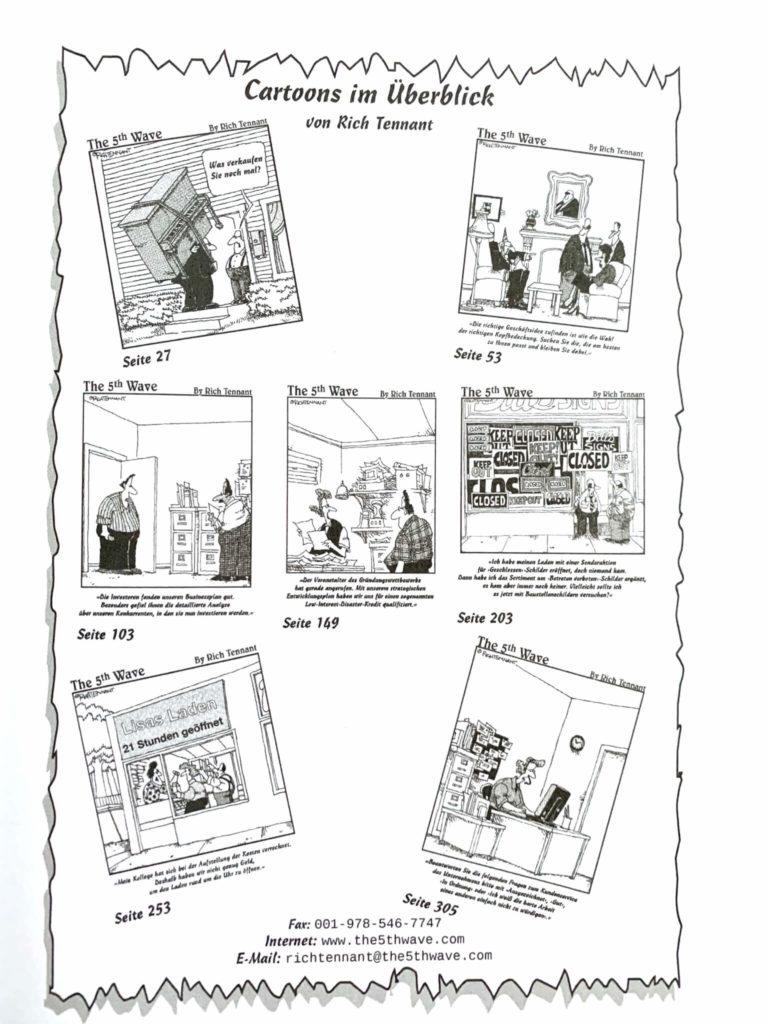 Bilder bzw. Karikaturen über verschiedene Business-Situationen - Existensgründung für Dummies