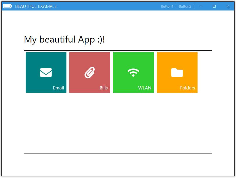 Mahapps Metro schönes App Beispiel