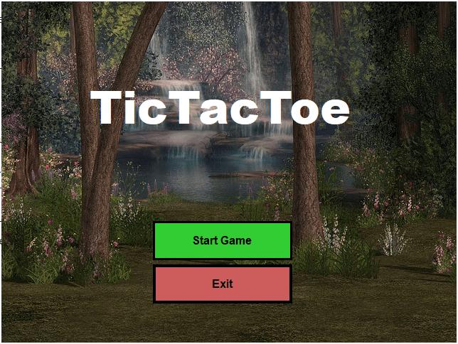 VB.NET Game TicTacToe Begrüßungsbildschirm