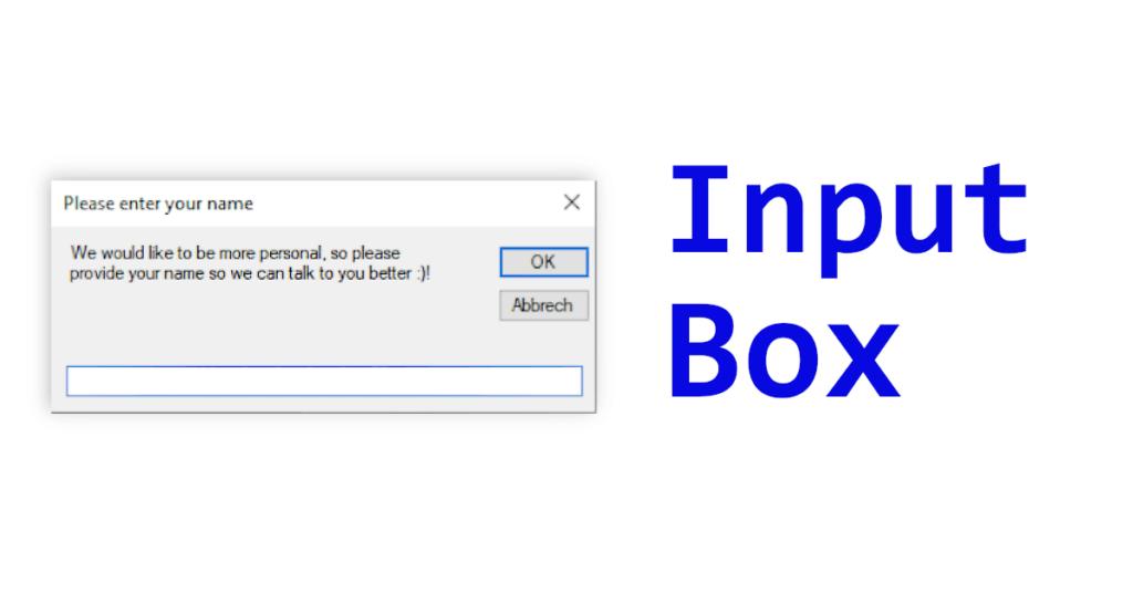 VB.NET InputBox Beispiel