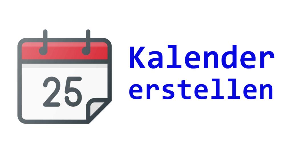 VB.NET Kalender erstellen – Teil 1