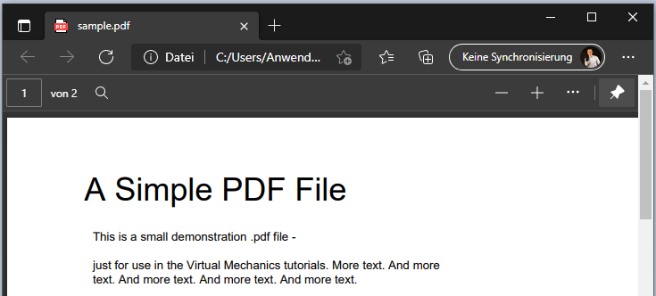 VB.NET PDF anzeigen Sample.pdf