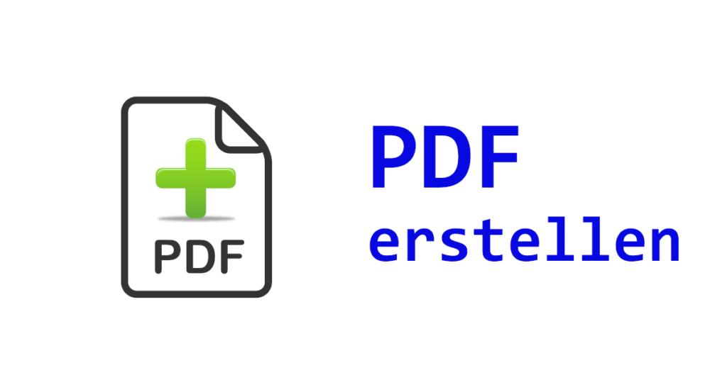 VB.NET PDF erstellen