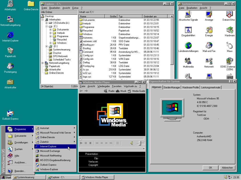Windows95 Oberfläche