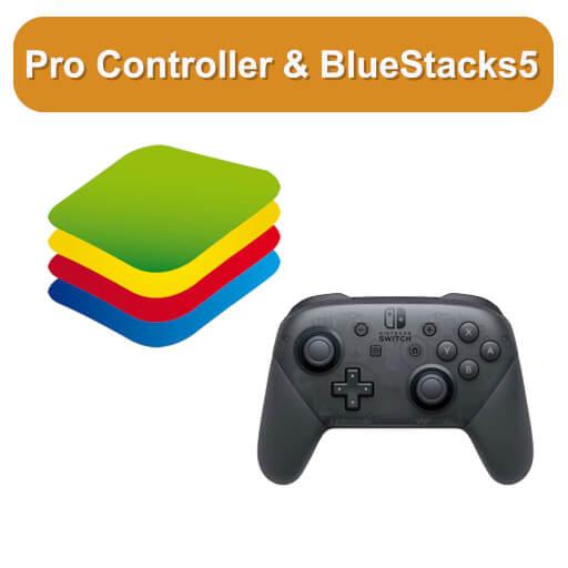 Nintendo Switch pro Controller in BlueStacks verwenden Beitragsbild