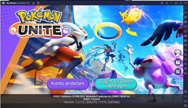 Pokémon UNITE auf dem PC im BlueStacks 5 Android Emulator